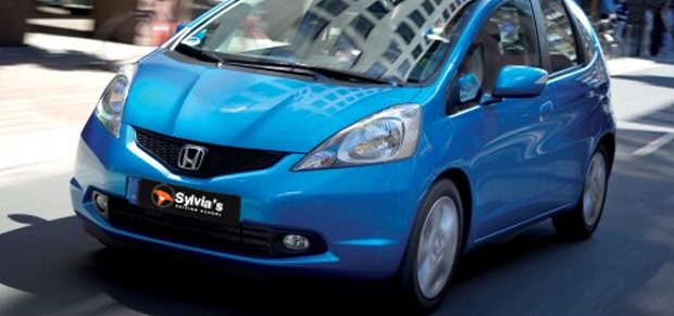 Sylvia's Driving School uses a Modern Honda Jazz Automatic 4 Door with Dual Control ensuring full safety.